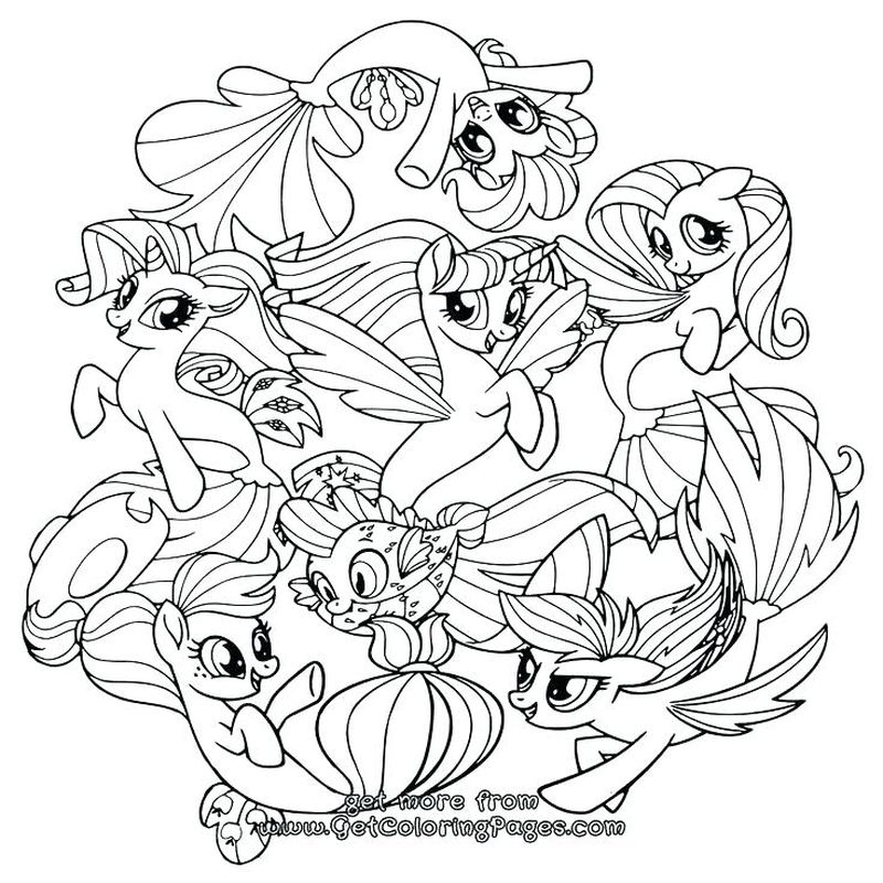 My Little Pony Dazzlings Coloring Pages
