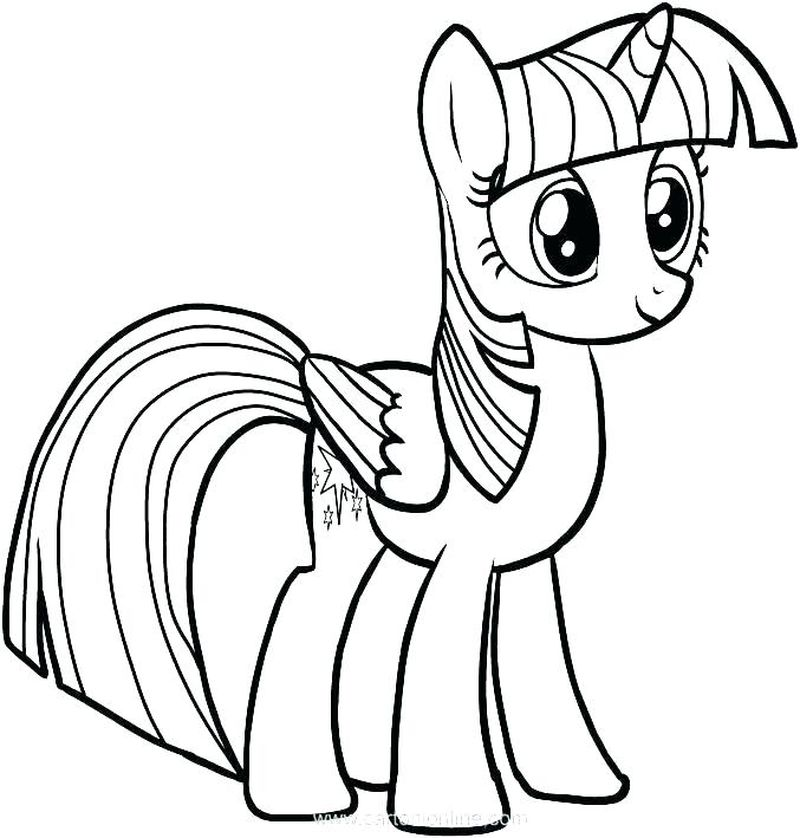 My Little Pony Printable Coloring Pages Rainbow Dash