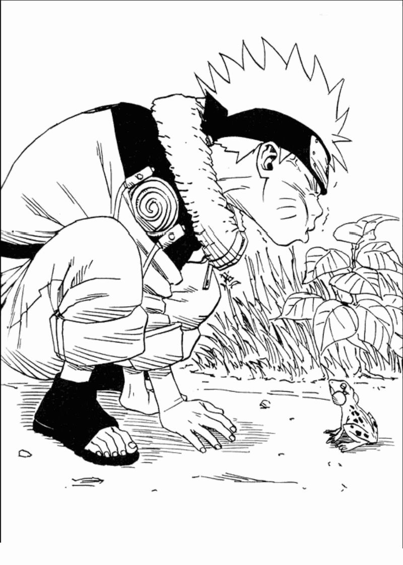 Naruto Characters Coloring Pages