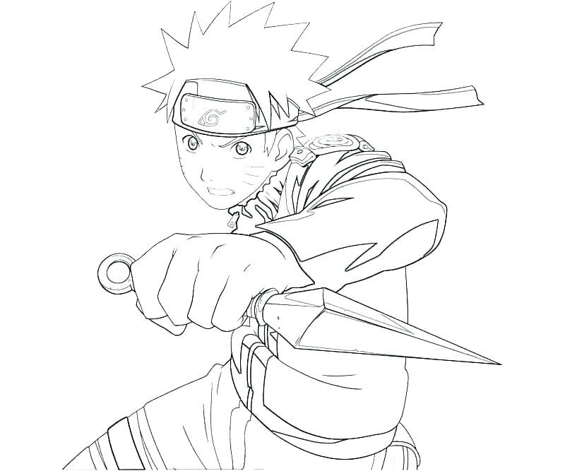 Naruto Print Out Coloring Pages