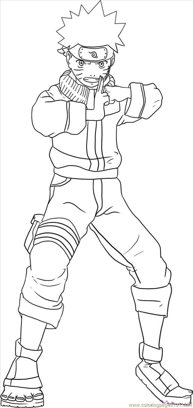Naruto Shippuden Coloring Pages Printable