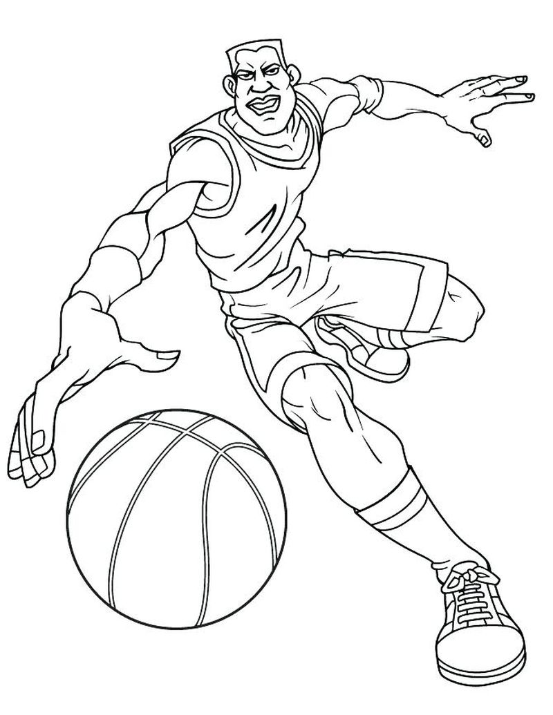 Nba Basketball Trophy Coloring Pages