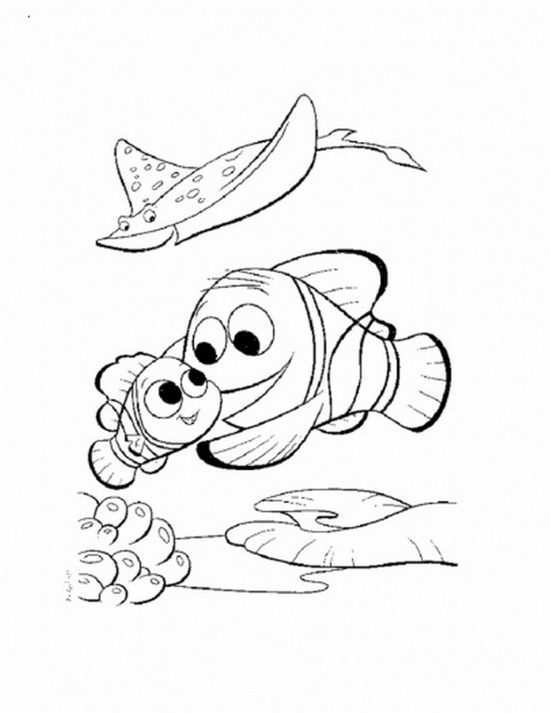 Nemo Characters Coloring Pages