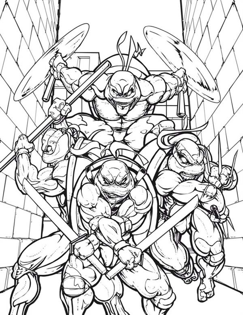 New Ninja Turtles Coloring Pages
