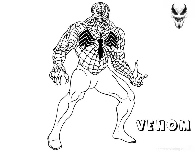 New Venom Coloring Pages