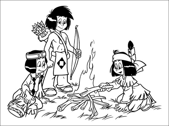 New Yakari Coloring Pages