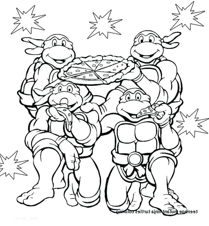 Ninja Turtle Coloring Pages Colored