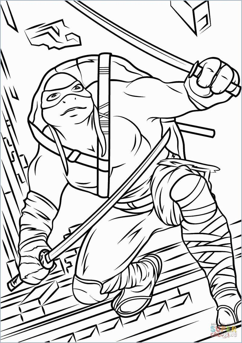 Ninja Turtle Coloring Pages Free To Print