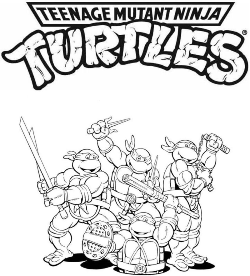 Ninja Turtle Coloring Pages Full Size