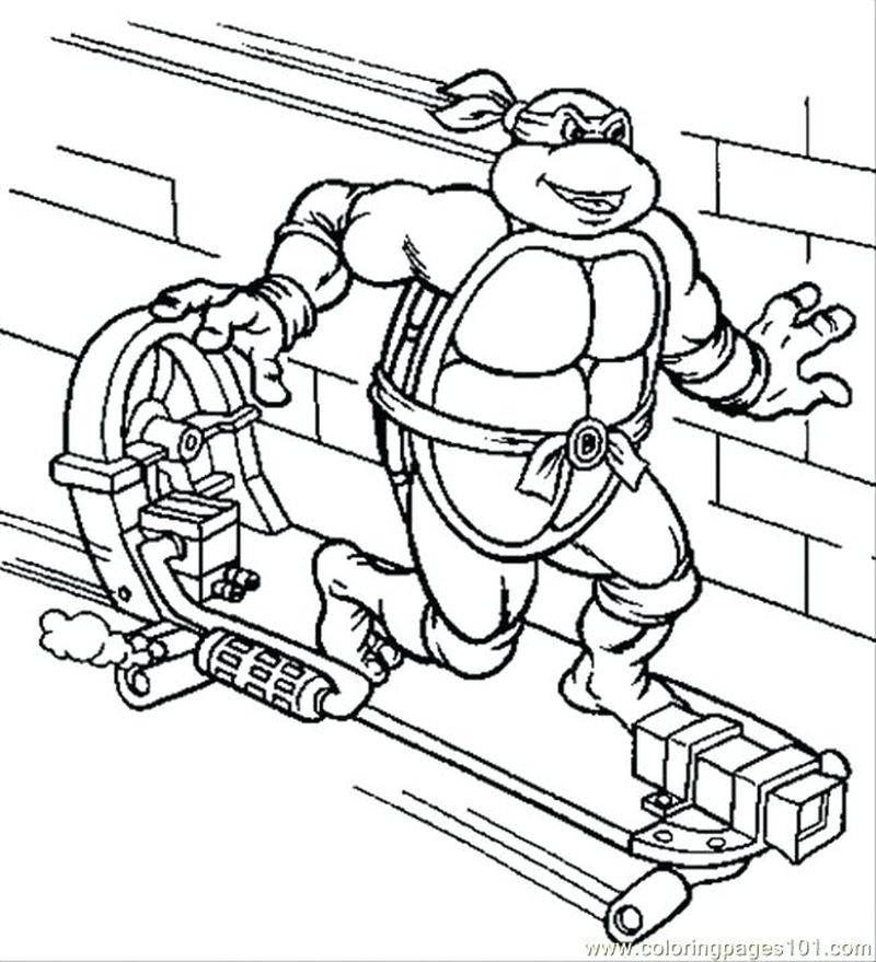 Ninja Turtle Coloring Pages Online
