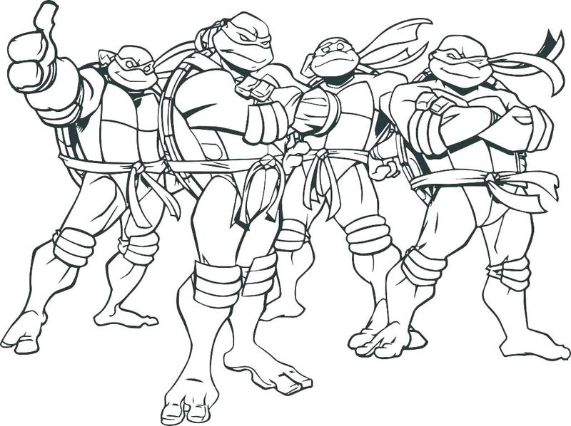 Ninja Turtle Coloring Pages To Print