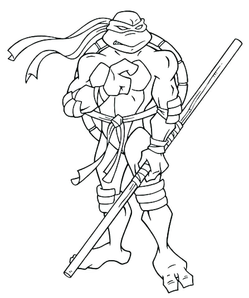 Ninja Turtle Colouring Pages To Print