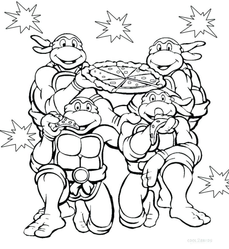 Ninja Turtle Face Coloring Page