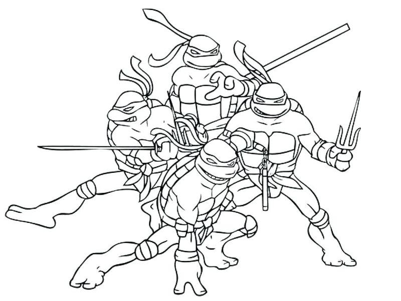 Ninja Turtle Without Weapons Coloring Pages