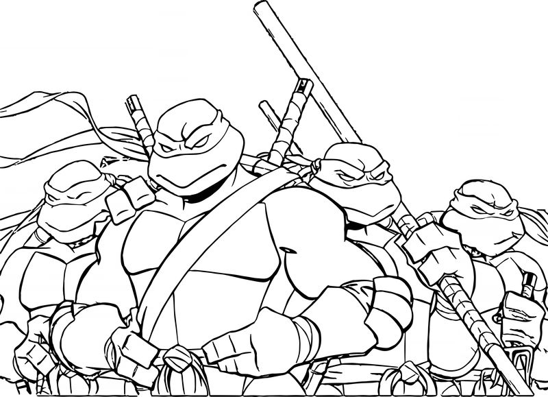 Ninja Turtles Coloring Pages Images