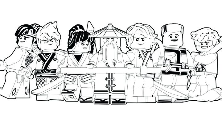 Ninjago Coloring Pages For Adults