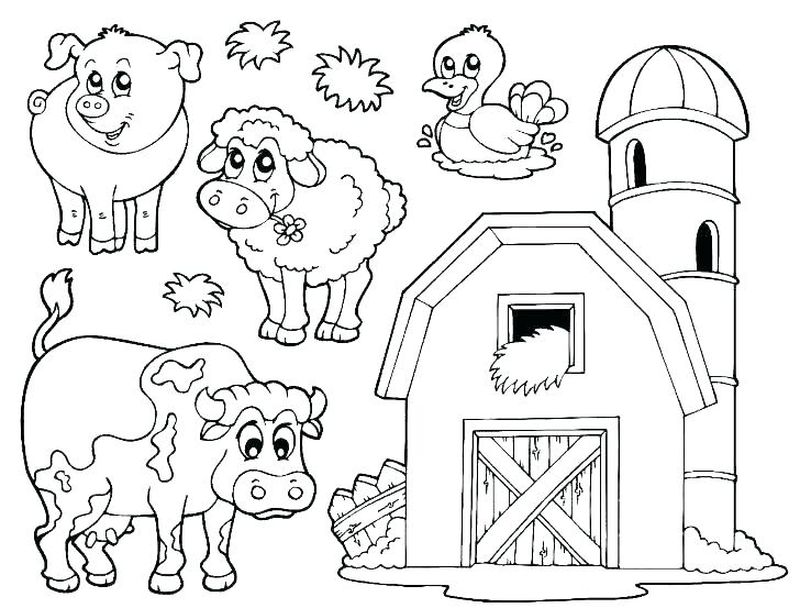Noah Ark Animals Coloring Pages