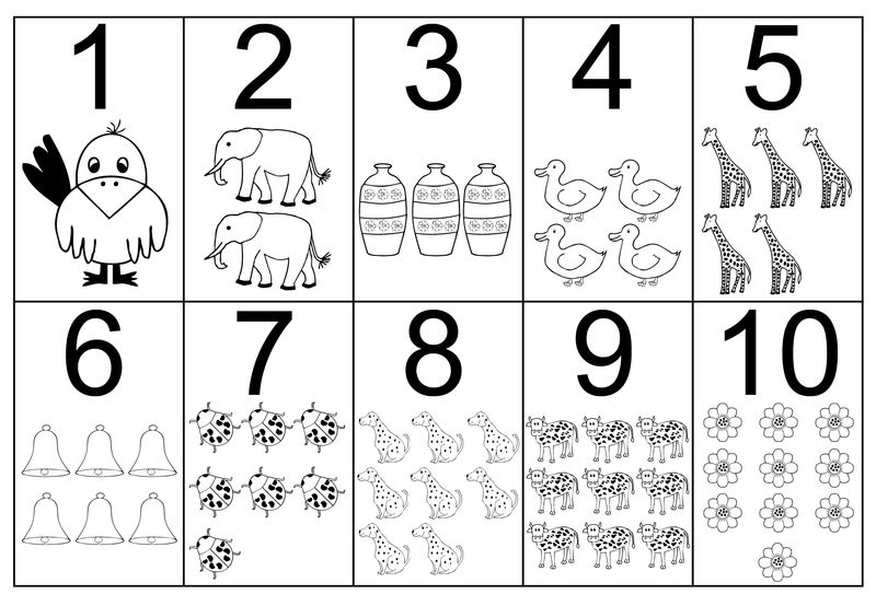 Number Coloring Pages 1 10 Pdf