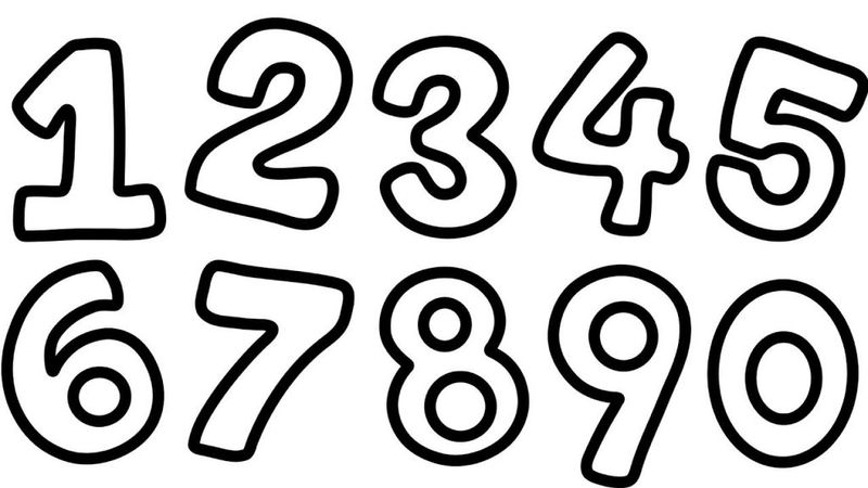 Number Coloring Pages For Toddlers Pdf