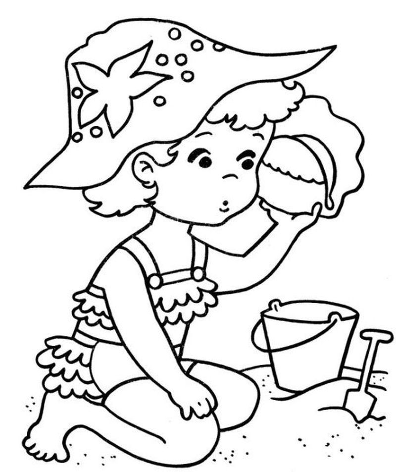 Ocean And Beach Coloring Pages