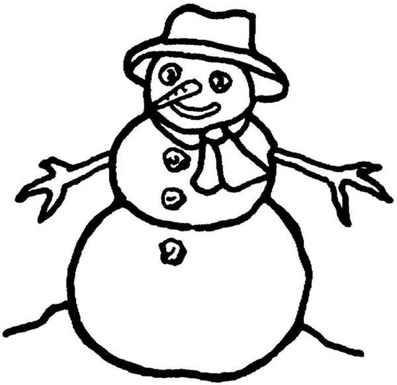 Olaf Snowman Coloring Pages