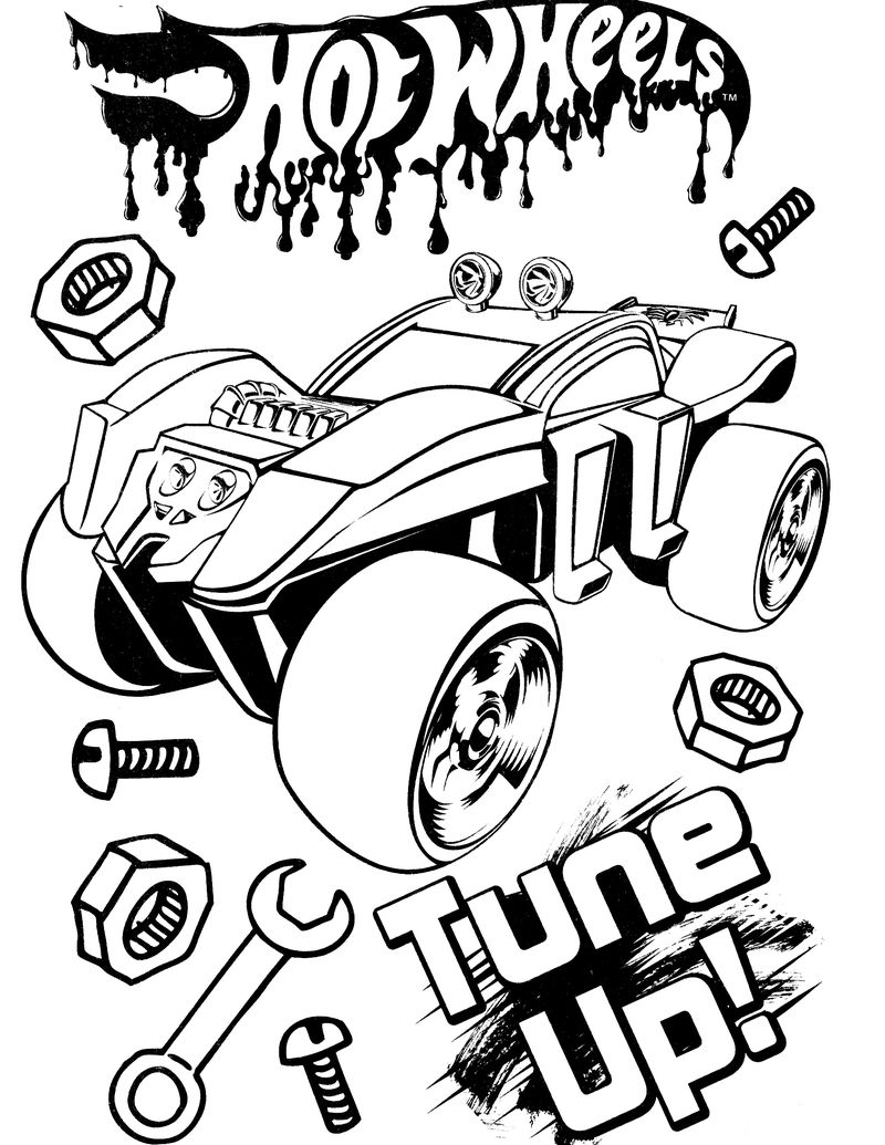 Old Hot Wheels Coloring Pages