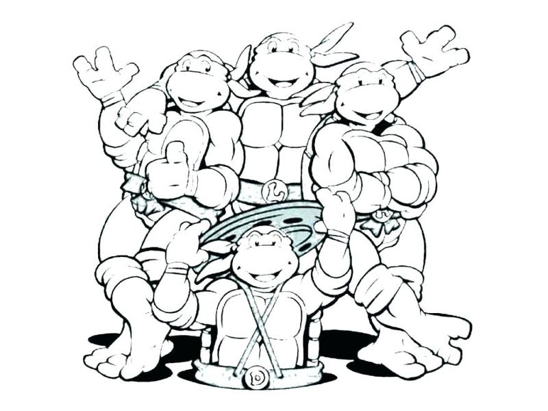 Old Ninja Turtle Coloring Pages