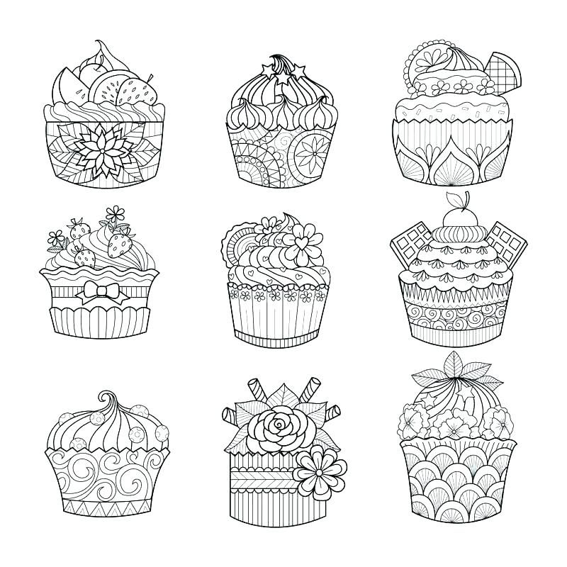 Online Cupcake Coloring Pages