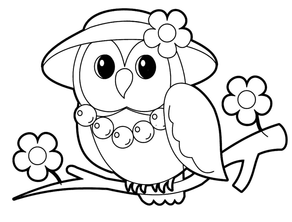 Owl Coloring Pages To Print
