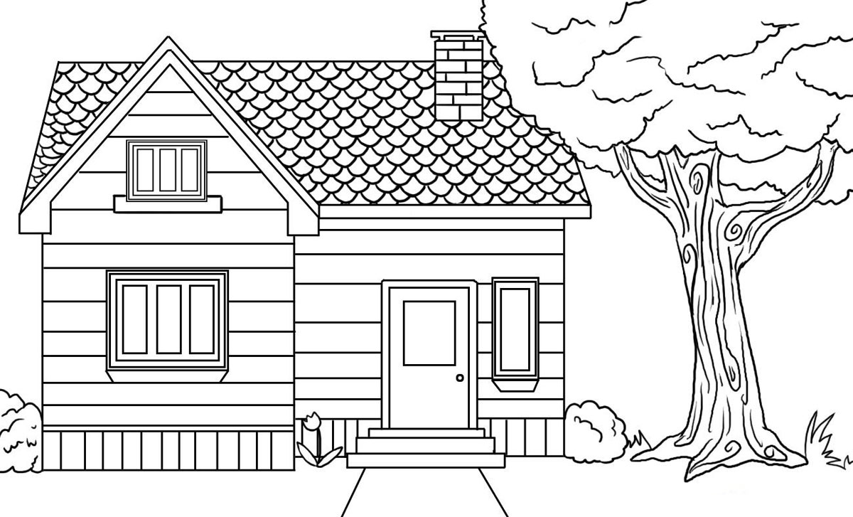 Parts Of A House Coloring Pages