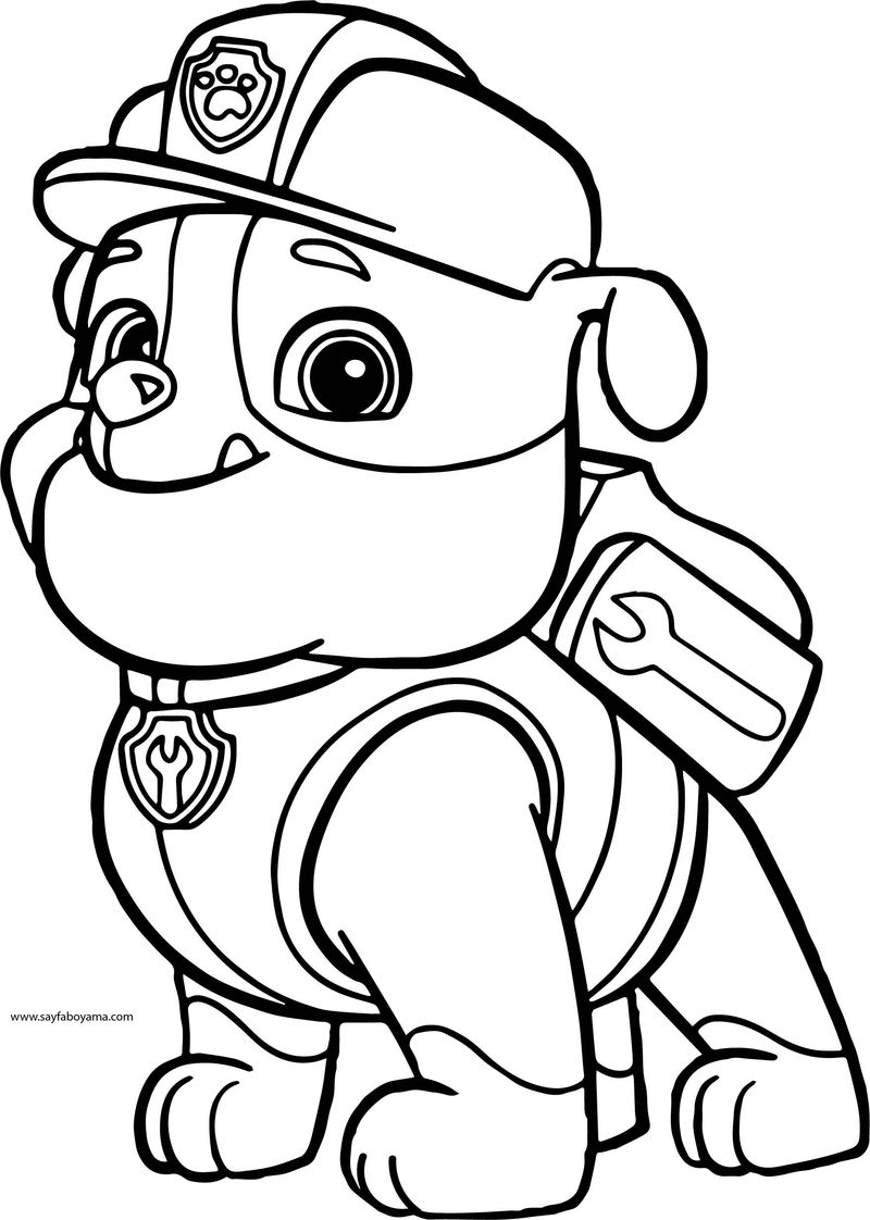 Paw Patrol A4 Coloring Pages To Print