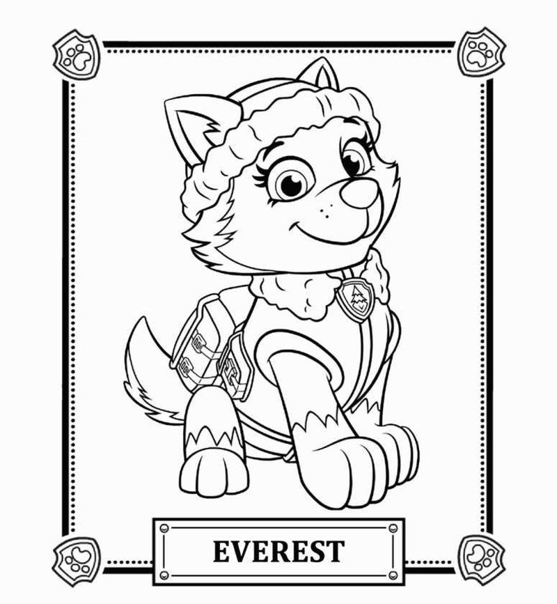 Paw Patrol Alphabet Coloring Pages