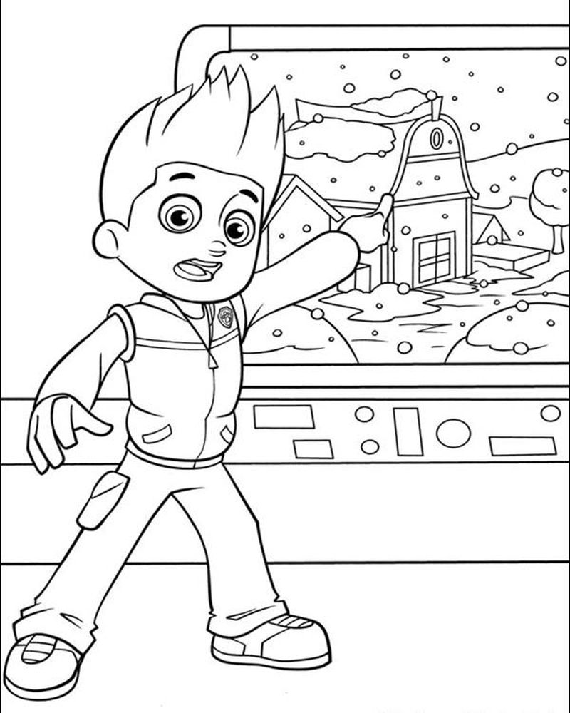 Paw Patrol Blank Coloring Pages To Print