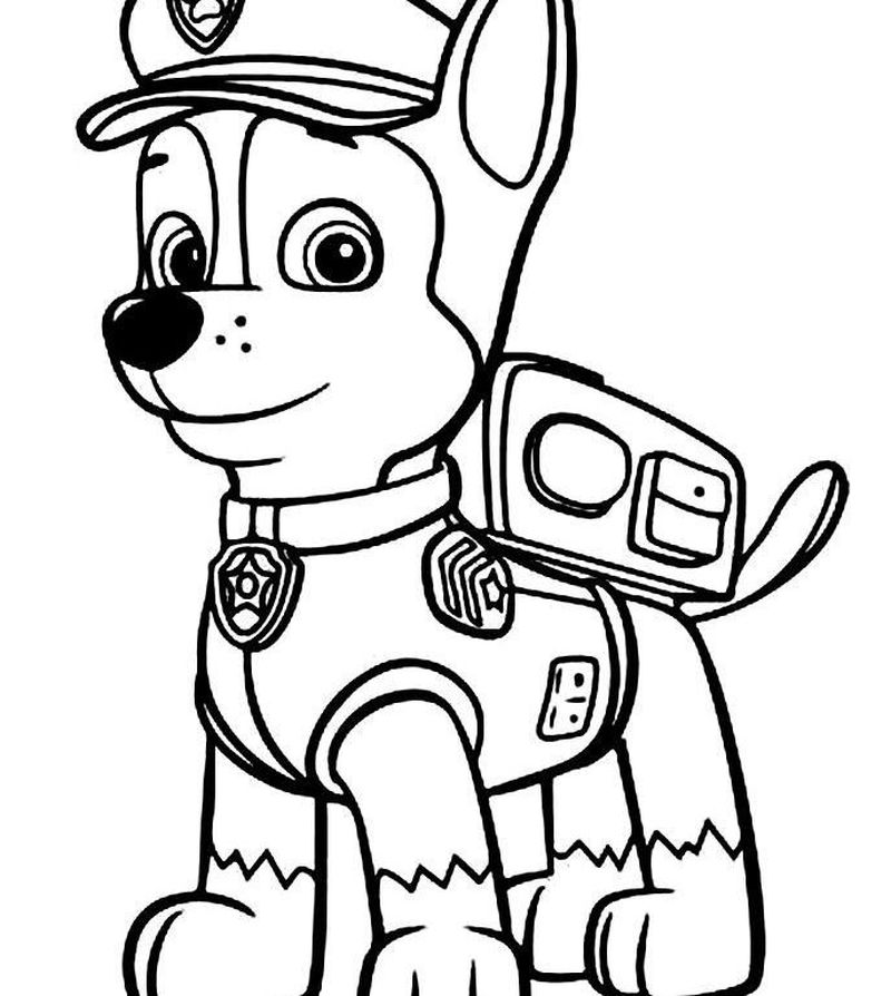 Paw Patrol Blank Coloring Pages
