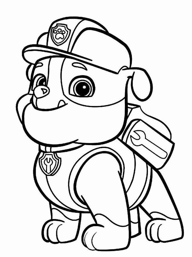 Paw Patrol Bus Coloring Pages