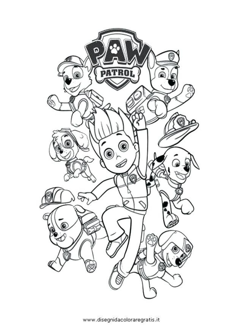 Paw Patrol Cartoon Coloring Pages