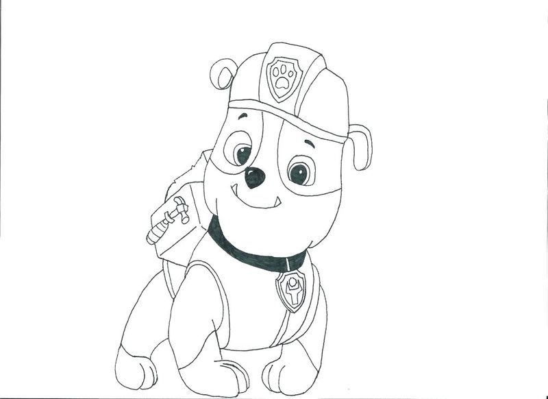 Paw Patrol Cat Marshall Coloring Page