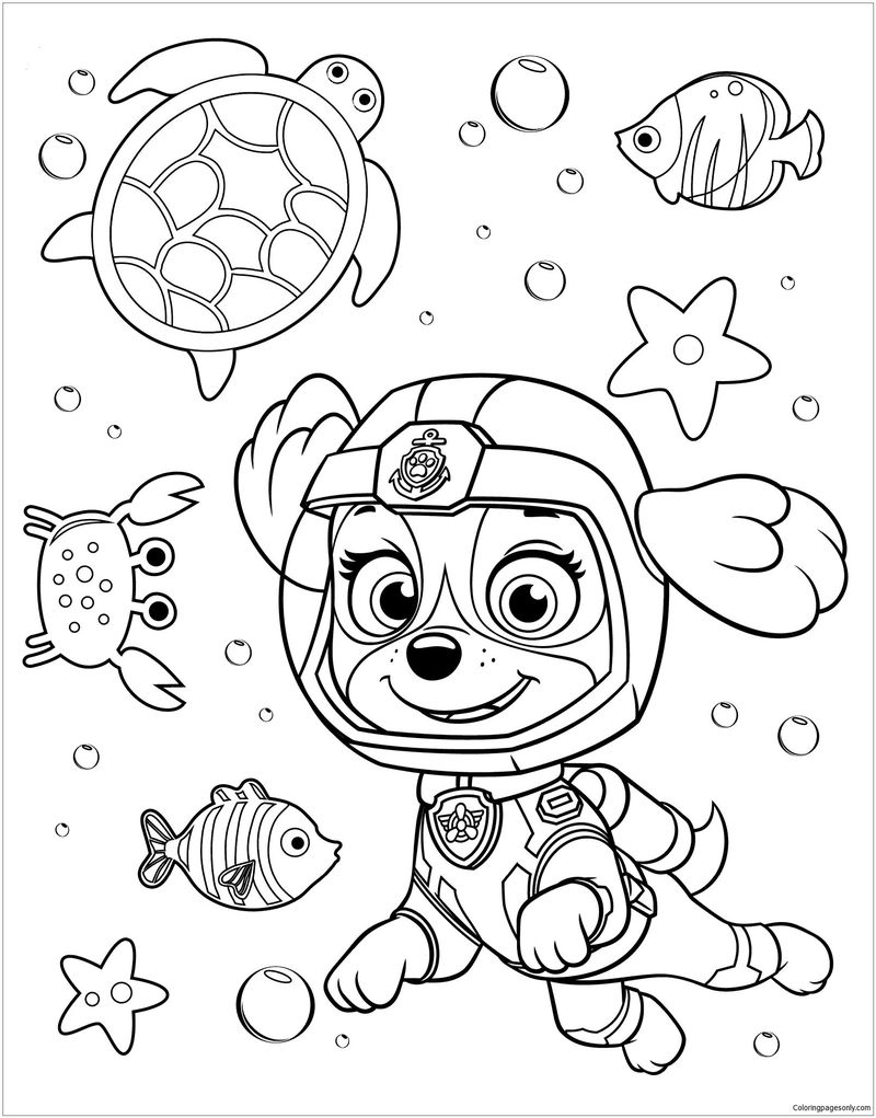 Paw Patrol Chase Badge Coloring Page