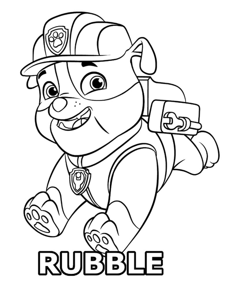 Paw Patrol Chickaletta Coloring Page
