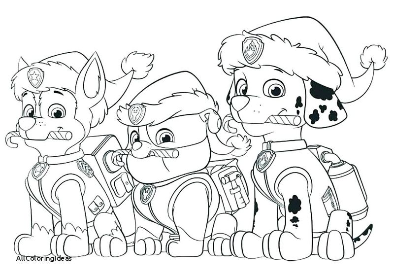 Paw Patrol Christmas Coloring Pages Pdf