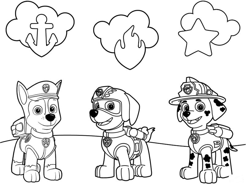 Paw Patrol Christmas Coloring Pages Printable