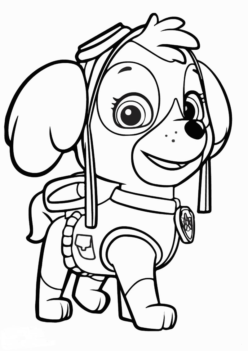 Paw Patrol Coloring Page Chase