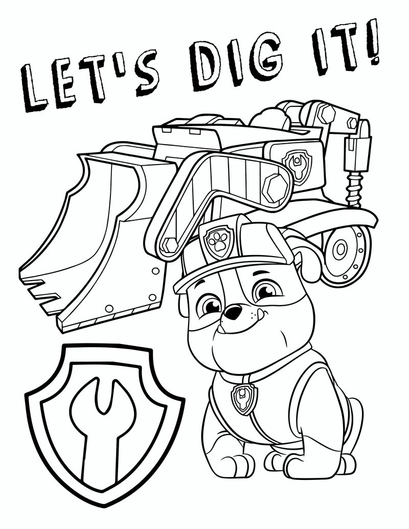 Paw Patrol Coloring Pages A4