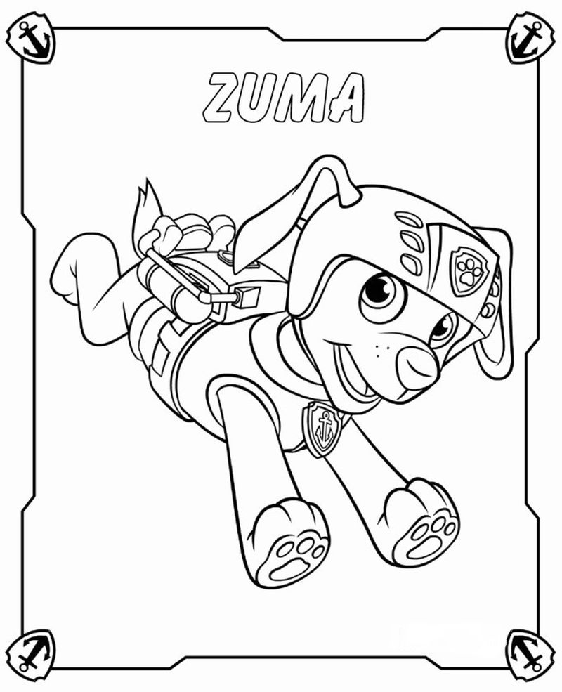 Paw Patrol Coloring Pages Car