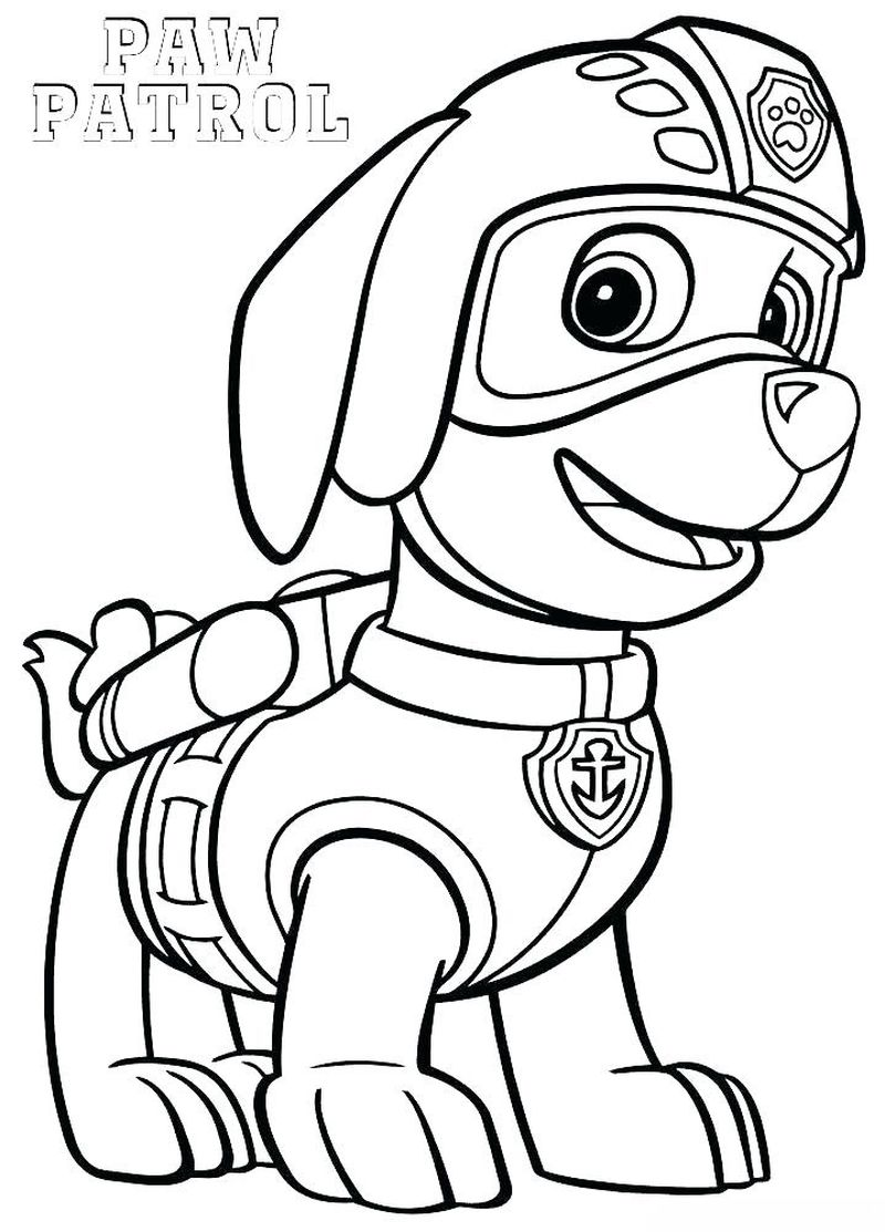 Paw Patrol Coloring Pages Easy