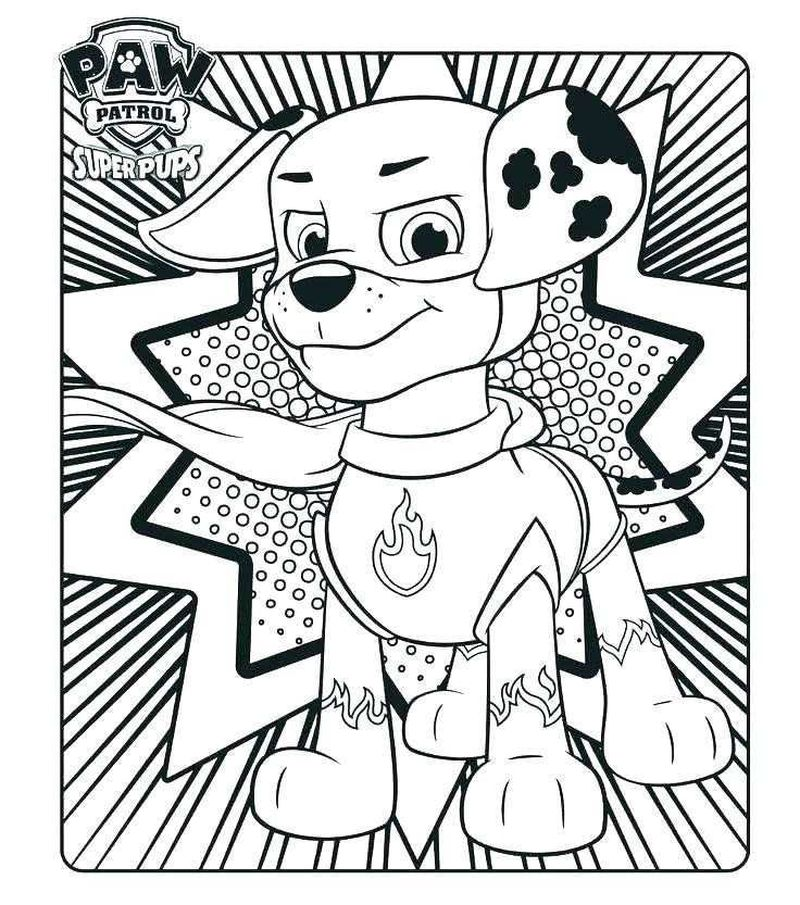 Paw Patrol Coloring Pages For Free