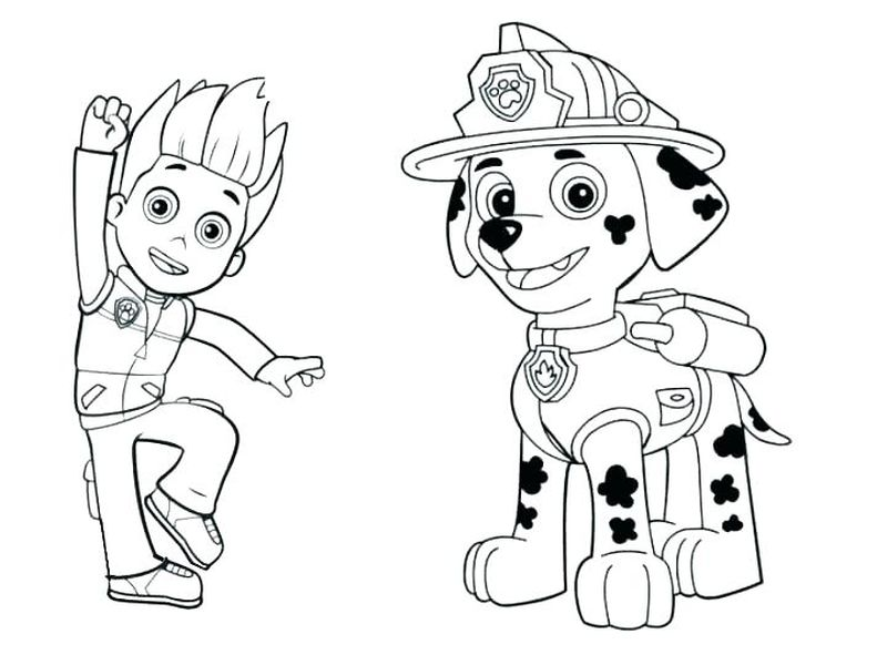Paw Patrol Coloring Pages For Toddlers