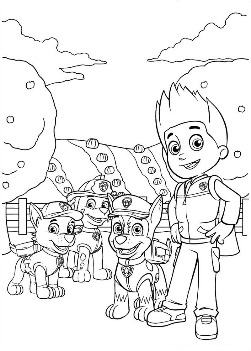 Paw Patrol Coloring Pages Free Everest