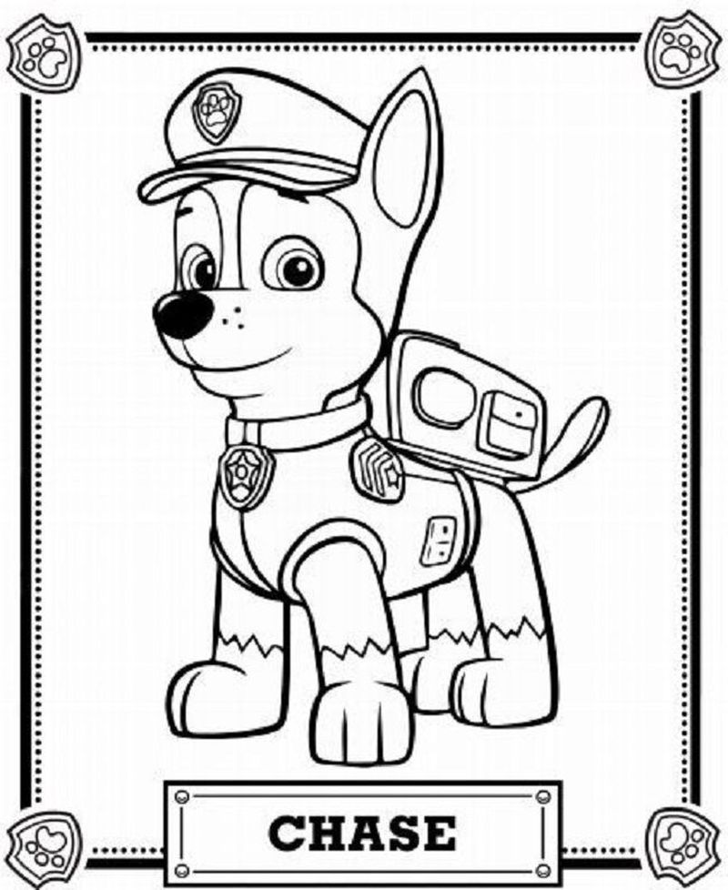 Paw Patrol Coloring Pages Happy Birthday