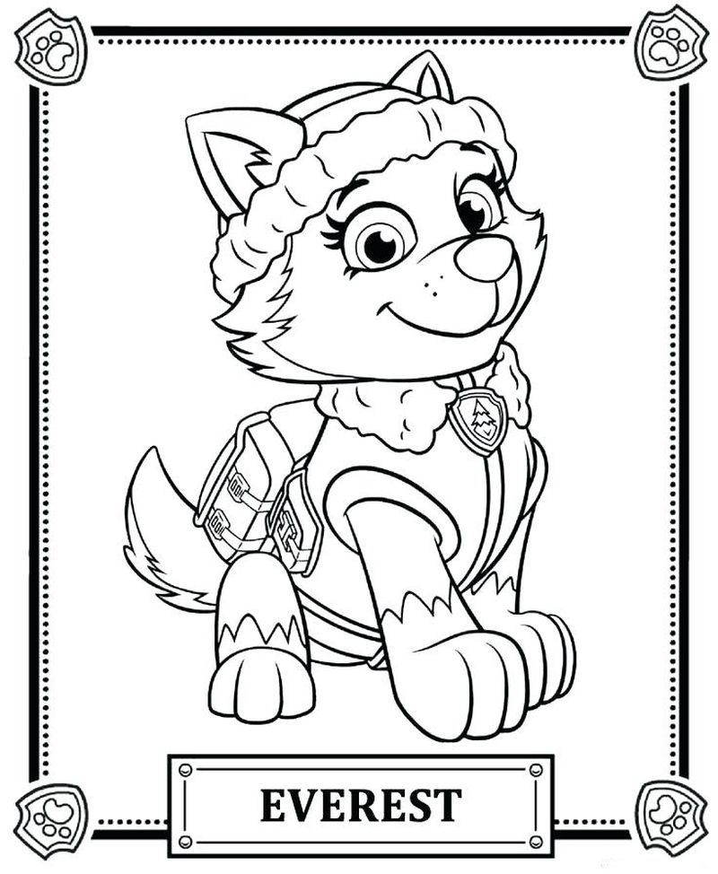 Paw Patrol Coloring Pages Marshall